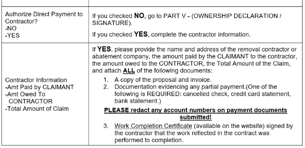 Claim Form Instructions